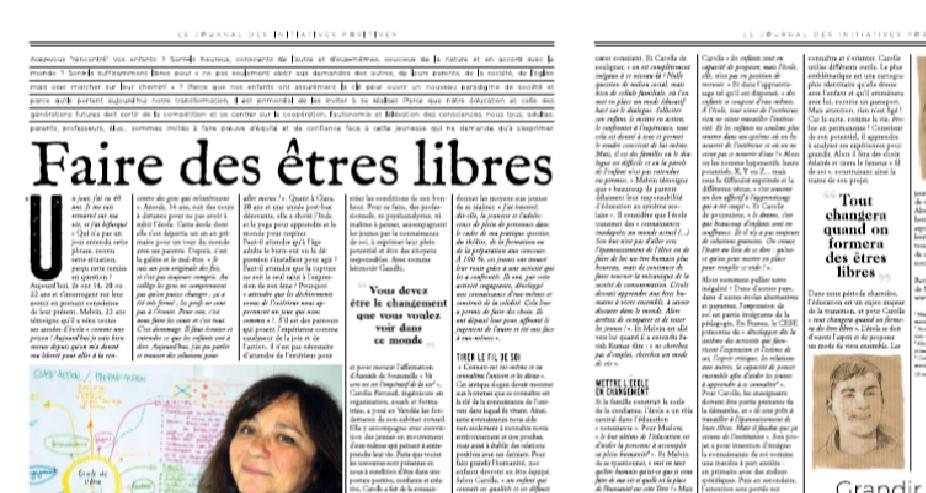 Article demain Vendée Faire des êtres libres